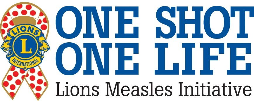 one shot one life lions measles initiative logo