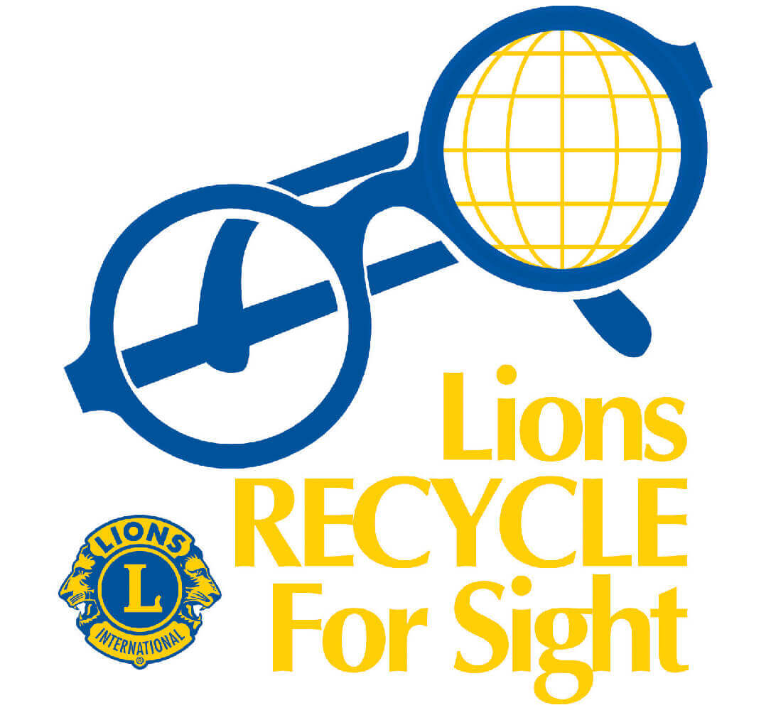 lions clubs Spectacle Recycling logo
