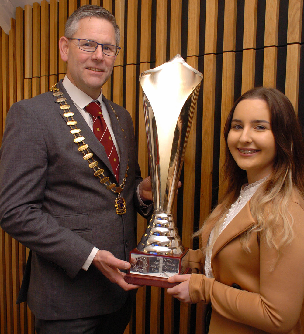 young ambassador of the year winner Chelsea Gibson